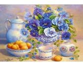 Puzzle Bukiet niebieski