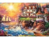 Puzzle Dom na klifie