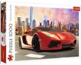Puzzle Czerwony samochód sportowy