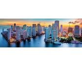 Puzzle Miami nocą - PUZZLE PANORAMICZNE