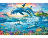 Puzzle Rodzina delfinów