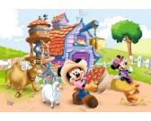 Puzzle Myszka Miki na farmie - PUZZLE DLA DZIECI
