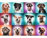 Puzzle Zabawne portrety psów