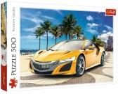 Puzzle Żółty samochód sportowy